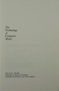Technology of Computer Music
