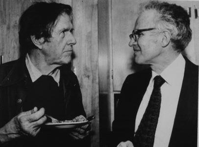 John Cage e Lejaren Hiller in pausa torta.