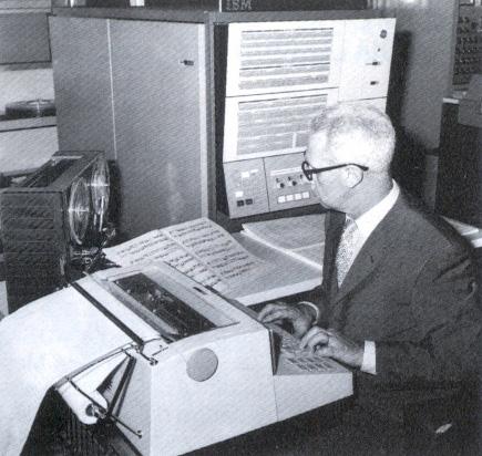 Pietro Grossi al CNUCE di Pisa, 1965.
