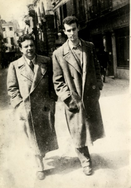 Bruno Maderna e Luigi Nono a passeggio per Venezia, 1948.
